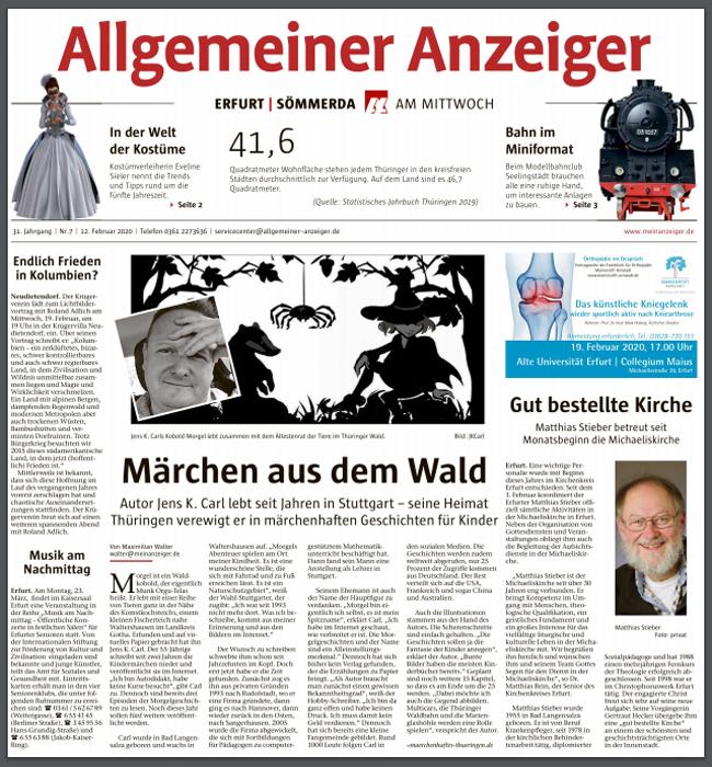 Allgemeiner Anzeiger - Jens K. Carl - Märchen aus dem Wald